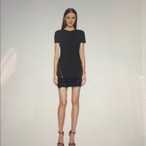 DSQUARED2 boot lacing short sleeve dress size 40=2